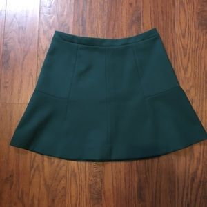 JCREW dark teal A line Mimi skirt